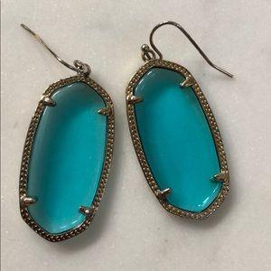 Kendra Scott Transclucent Blue Dangle Earrings